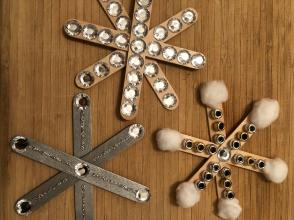 Bedazzled Snowflake Crafts