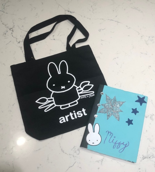Miffy bag and notebook